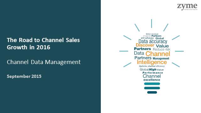 The road to channel sales growth in 2016: Channel Data Management