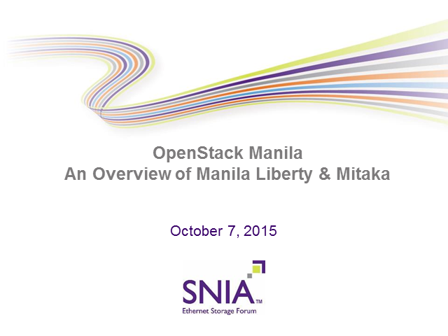 OpenStack Manila - An Overview of Manila Liberty & Mitaka