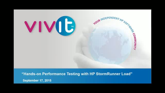 Hands-on Performance Testing with HP StormRunner Load