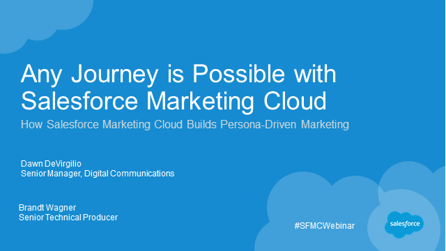 Any Journey is Possible with Salesforce Marketing Cloud