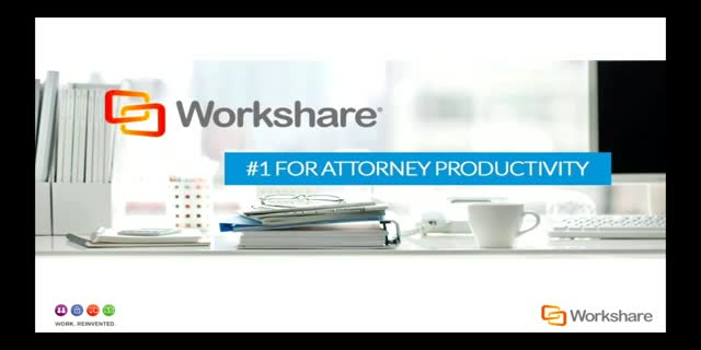 WORKSHARE 9: #1 FOR ATTORNEY PRODUCTIVITY