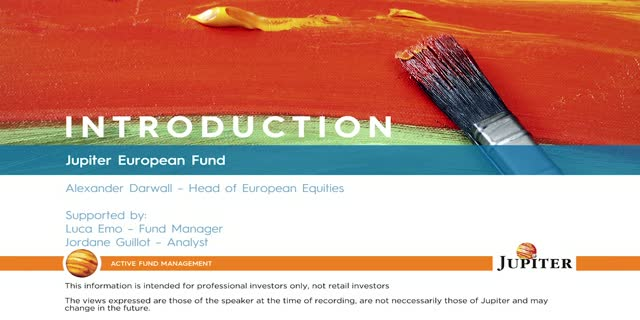 Introduction - Jupiter European Fund