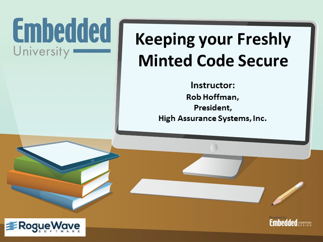 "Keeping your freshly minted code secure - Class 2 of ""Secure Code"""