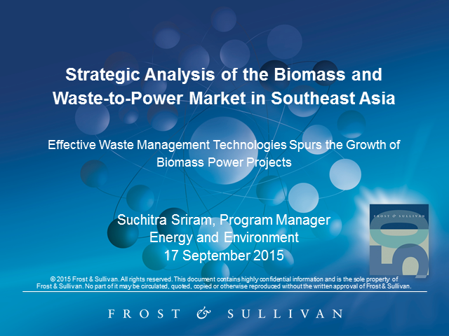 Strategic Analysis of the Biomass and Waste-to-Power Market in Southeast Asia