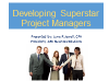 Developing Superstar Project Managers