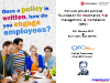Once a policy is written, how do you engage employees?