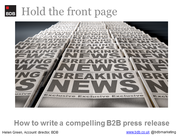 How to write a compelling b2b press release