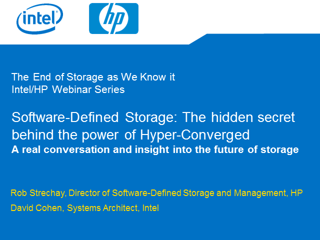 Software-Defined Storage: The hidden secret behind the power of Hyper-Converged