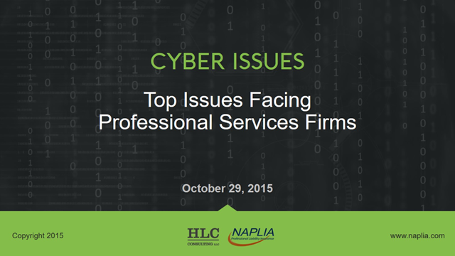 Cyber Issues for Professional Services Firms