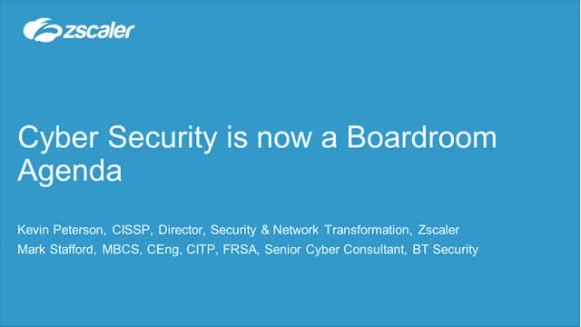 Cyber Security is now a Boardroom Agenda