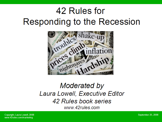 42 Rules for Responding to the Recession