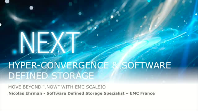 ScaleIO Node - Hyper-Convergence & Software Defined Storage