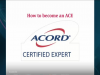 How to Become an ACORD Certified Expert (ACE) - and Why?
