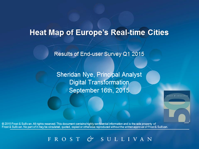 Heat Map of Europe's Real-time Cities