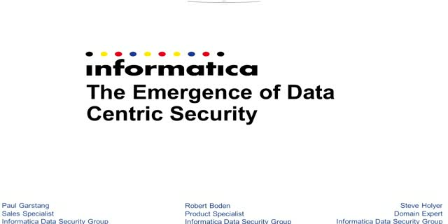 The Emergence of Data Centric Security
