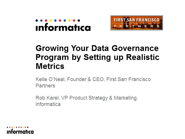Growing Your Data Governance Program by Setting up Realistic Metrics