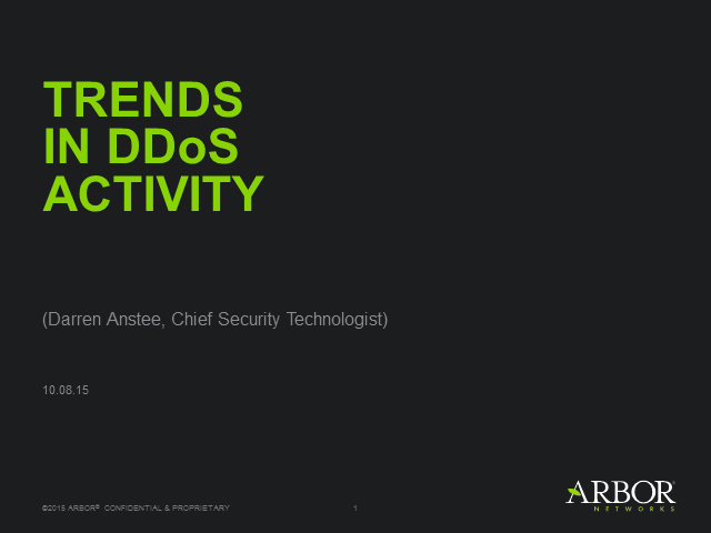 Latest DDoS Attack Trends – Excerpts from Arbor ATLAS Global Statistics