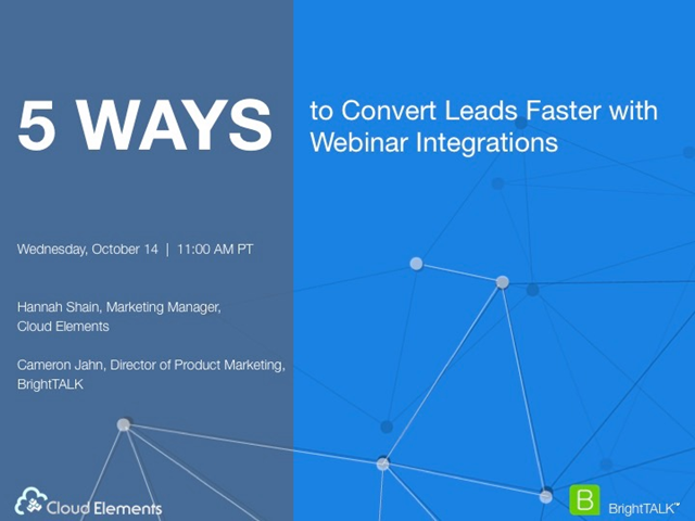 5 Ways to Convert Leads Faster with Webinar Integrations