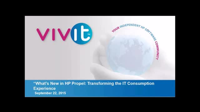 What's New in HP Propel: Transforming the IT Consumption Experience