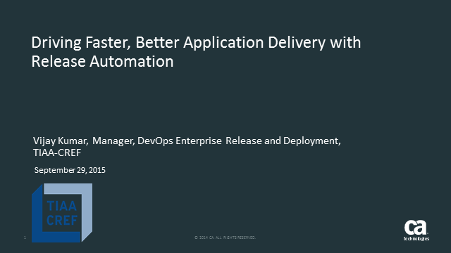 Driving Faster, Better Application Delivery with Release Automation