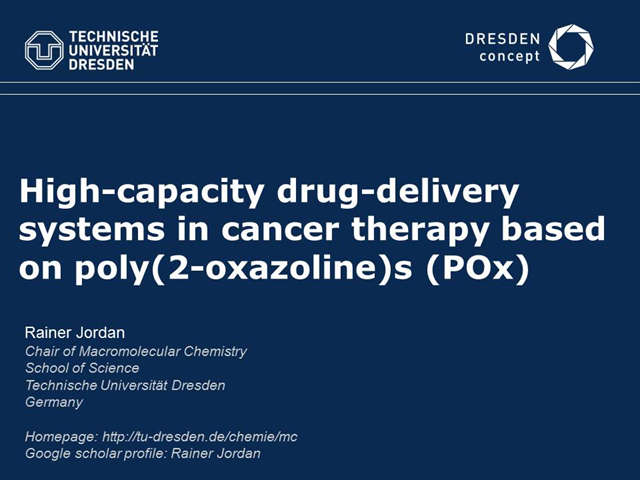 High-capacity drug-delivery system for cancer therapy based on poly(2-oxazoline)