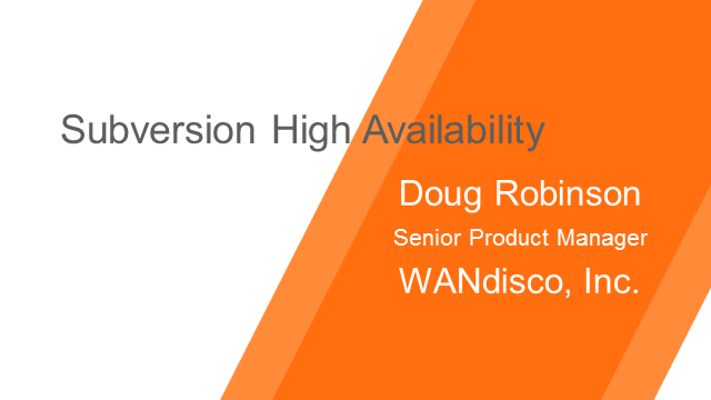 Subversion High Availability