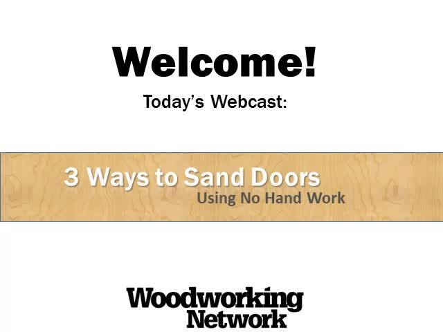3 Ways to Sand Doors Using No Hand Work