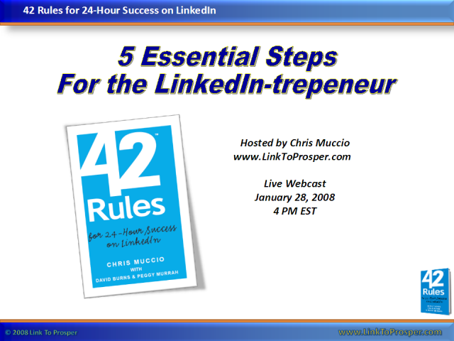 5 Essential Steps for the LinkedIn-trepreneur