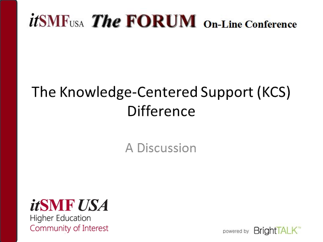 The Knowledge-Centered Support Difference: a Discussion