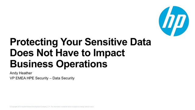 Protecting Your Sensitive Data Does Not Have to Impact Business Operations