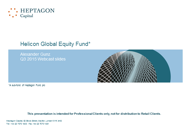 Helicon Global Equity Fund Q3 2015 Webcast