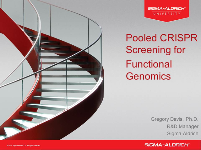 Sigma Pooled CRISPR Screening for Functional Genomics