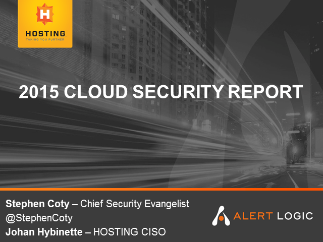 2015 Alert Logic Cloud Security Report