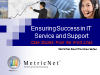 Ensuring Success in IT Service and Support: Case Studies from the Front Lines