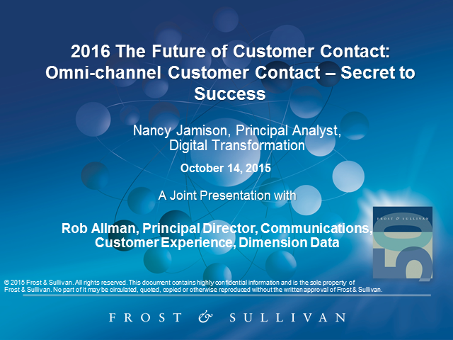 2016: The Future of Customer Contact