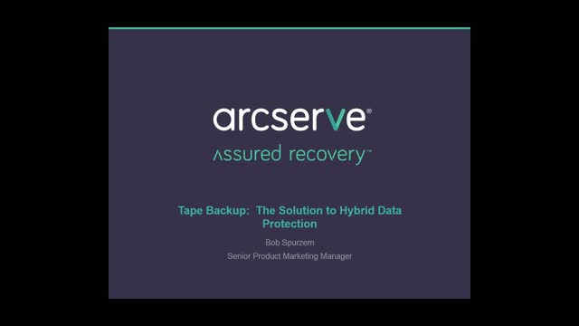 Tape Backup: The Solution to Hybrid Data Protection