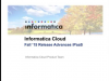 Informatica Cloud Fall 2015 Release Webinar