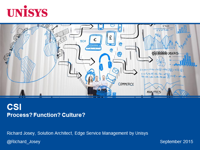 CSI – Process? Function? Culture?