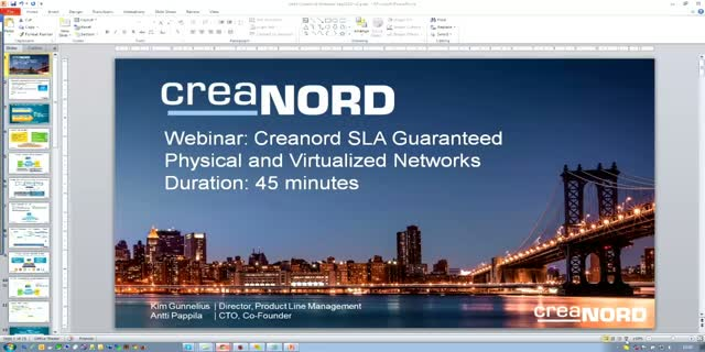 Creanord SLA Guaranteed Physical and Virtualized Networks