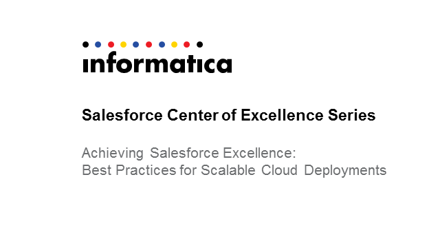 Achieving Salesforce Excellence: Best Practices for Scalable Cloud Deployments