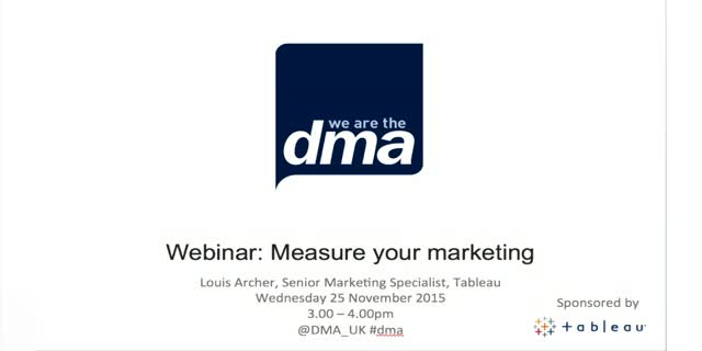 Webinar: measure your marketing