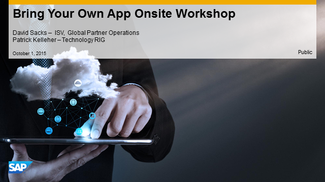 Workshop Overview: Bring Your Own App Exclusive Event in Toronto