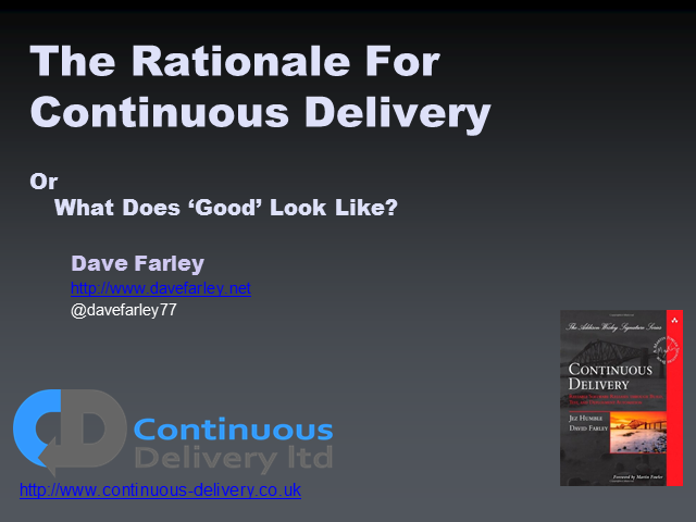 The Rationale for Continuous Delivery