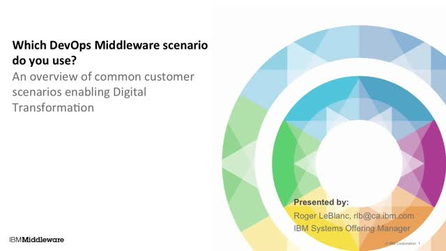 Which DevOps Middleware scenario do you use?