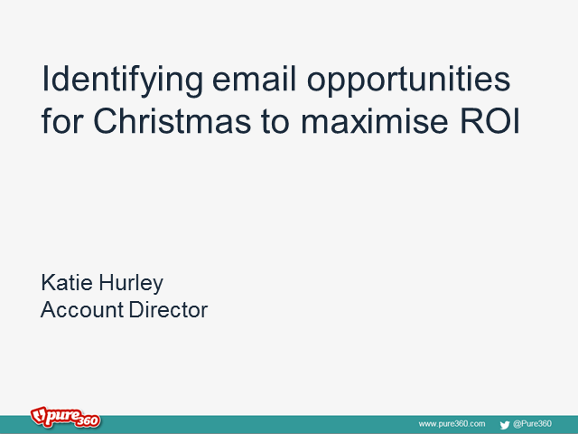 Identifying email opportunities for Christmas to maximise ROI