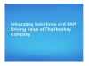 Integrating Salesforce and SAP - Driving Value at The Hershey Company