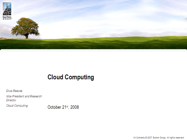 Demystifying the Cloud: Intro to the Cloud Tiered Architecture