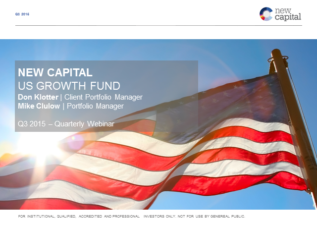 Q3 New Capital US Growth Fund update
