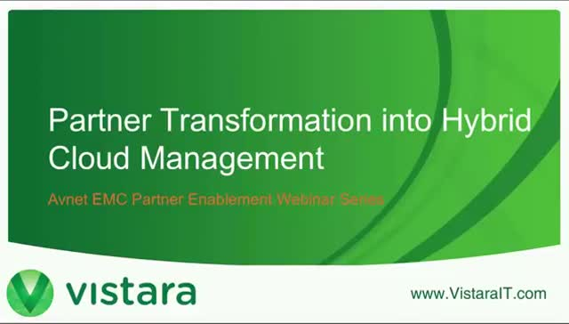 Partner Transformation into Hybrid Cloud Management