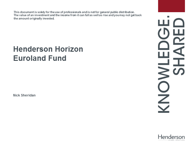 Henderson Horizon Euroland Fund Update